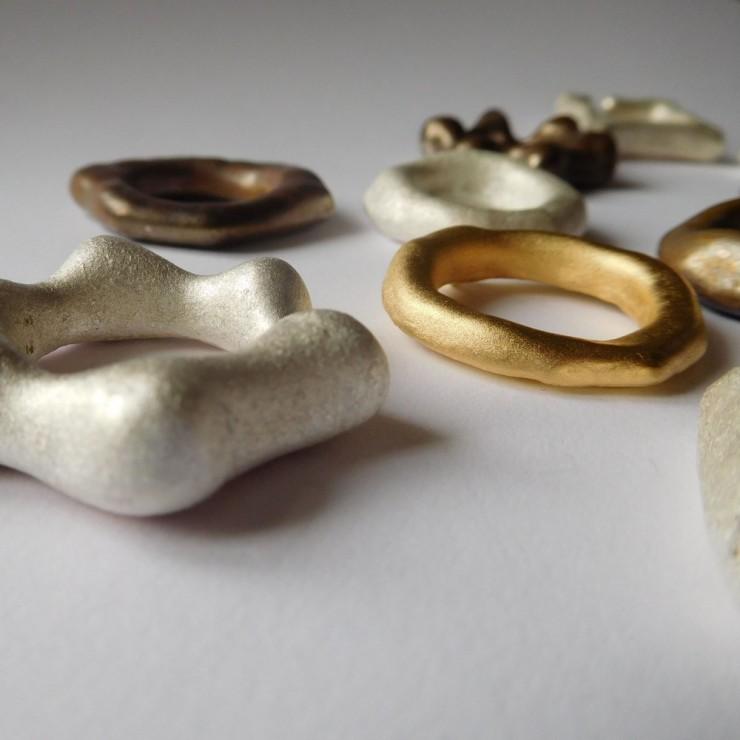 Juliane Scholss Rings silver shibuichi