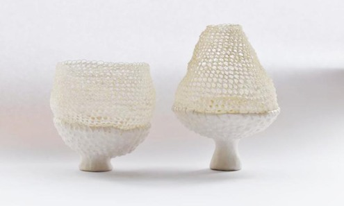 Porcelain and Thread Vessels, 2012