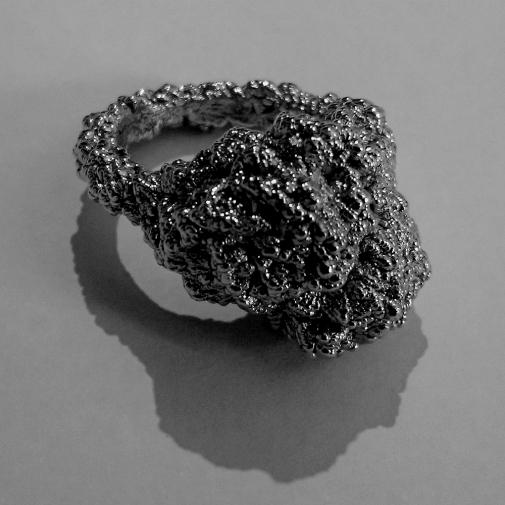 Ring, Mare Nostrum, 2017, Black Rhodium, Sterling Silver