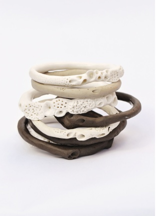 Rock Coral Bangle Stack, 2011