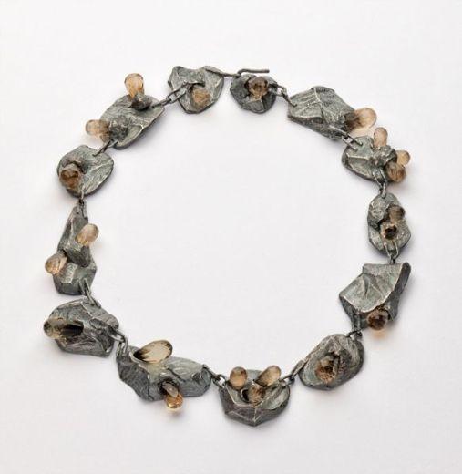 neckpiece, 2012 silver, citrine