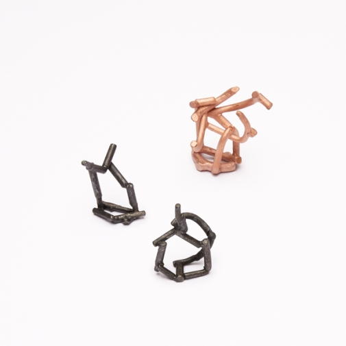 notes ring 2016, bronze, silver, silver