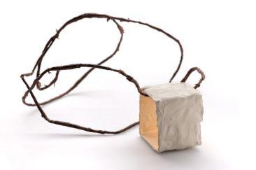 Untitled, necklace : concrete, paper