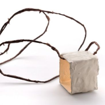 Untitled, necklace : concrete, paper