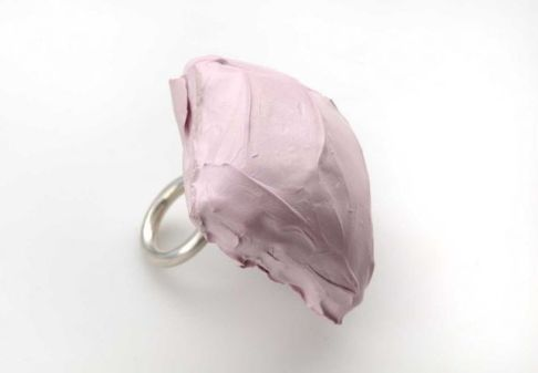 Untitled ring concrete, silver