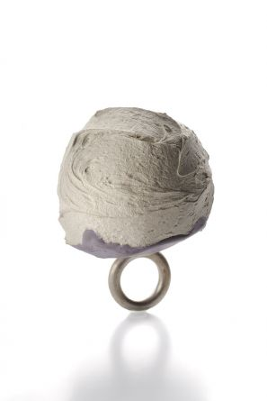 Untitled, ring, concrete silver