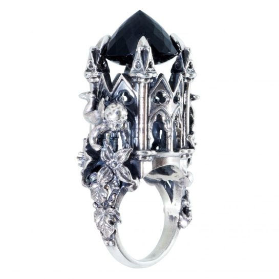 Blackhearted Cupid Ring Smokey quartz, Death and Glory Collection