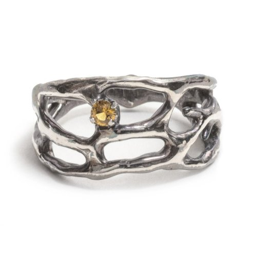 silver-cajal-ring_.jpgsterling silver,patina yellow australian sapphire