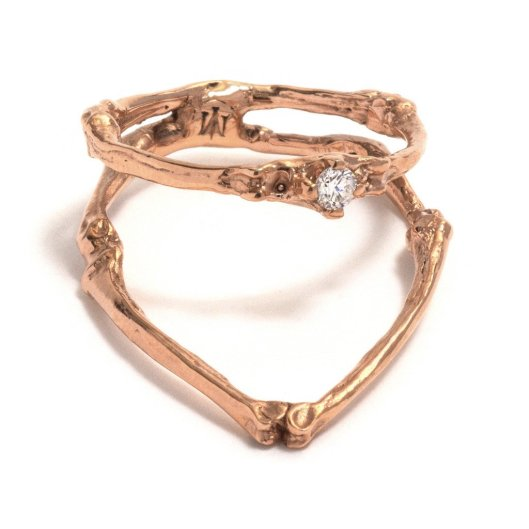 upright-towers-ring_9ct rose gold and white diamond 31mm x 10mm x 2.7mm