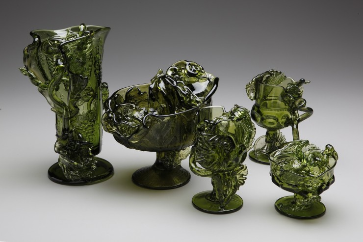 reconstructions in green flameworked and hot sculpted american pressed glass 2013