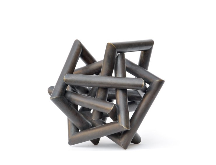 Sculpture- Untitled, 2008. Oxidized brass 22 x 20 x 20 cm
